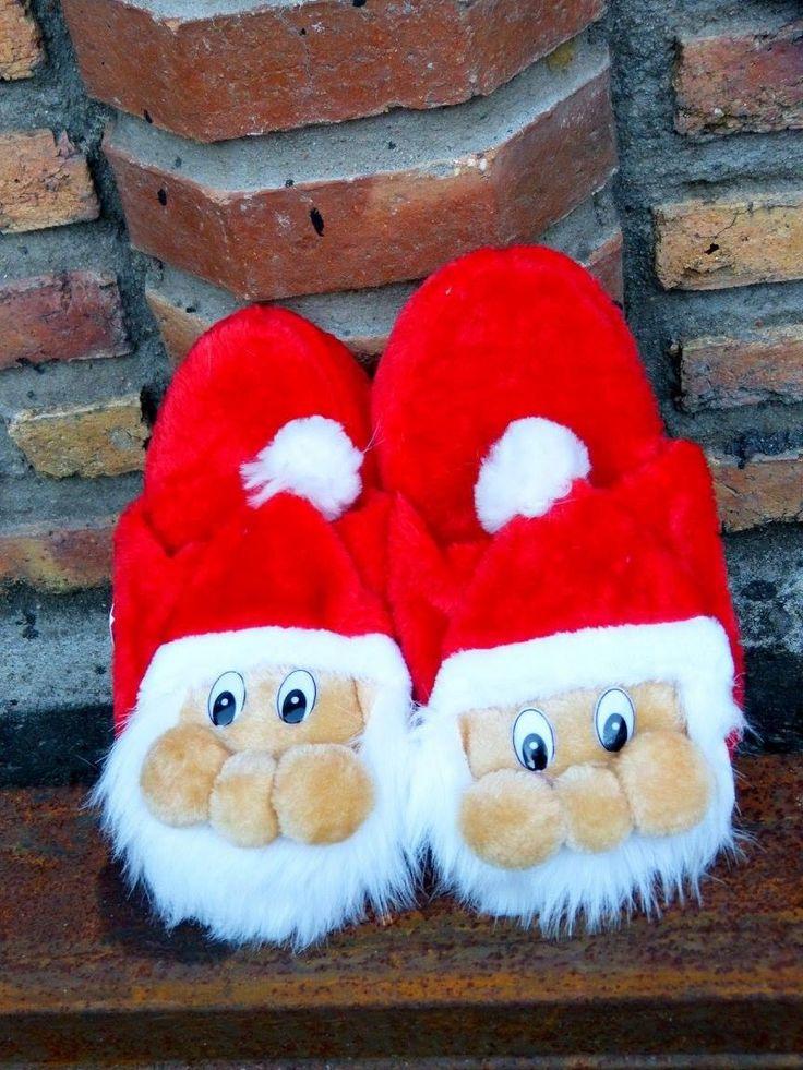 Resultado de imagen para pantuflas navideñas paso a paso