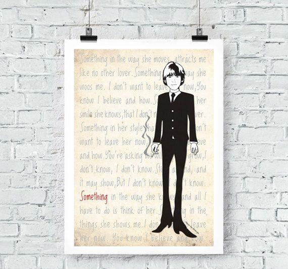 The Beatles: George Harrison Something Print Wall Art