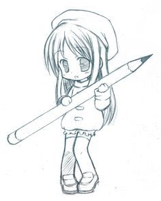 Easy Drawings People Awesome Girl Cute