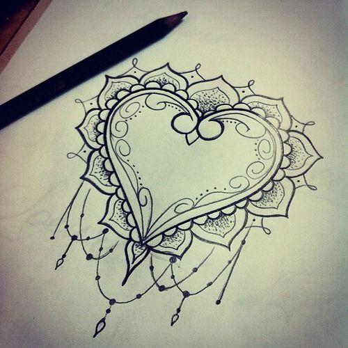 Imagem de heart, art, and draw