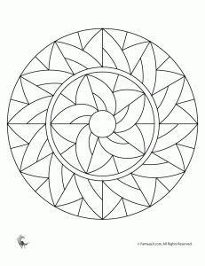 Simple Mandala Coloring Pages for kids. Free. Mandalas