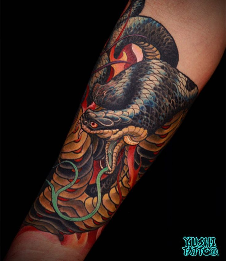 Double headed cobra 2016. #losangelestattoo #sandiegotattoo #seoultattoo #japanese #snake