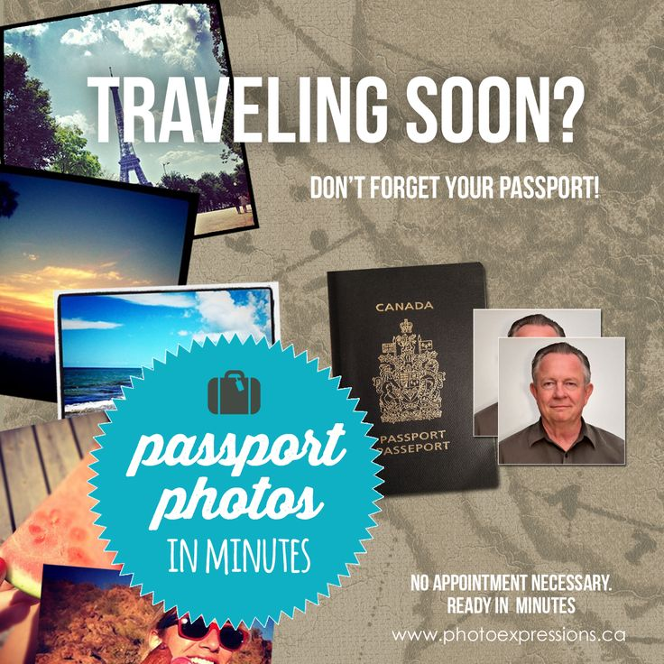 Is your passport expiring? Update your passport photo at Photo Express www.photoexpressions.ca