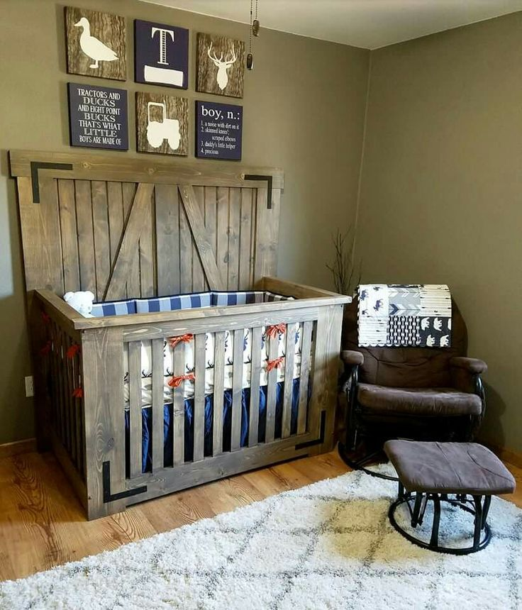 25 best ideas about rustic crib on pinterest nursery for Baby boy mural ideas