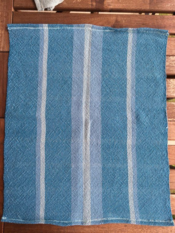 Handwoven Cotton Dish Towels Teal Seafoam And Blue Dish Towels