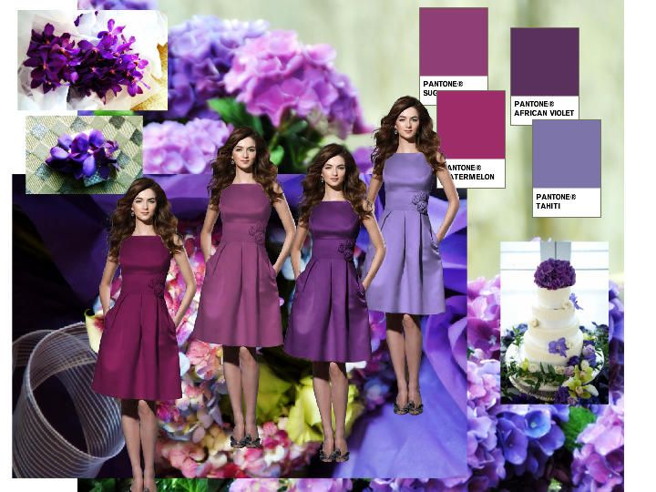 Lavender Wedding Color Combinations Purple Scheme