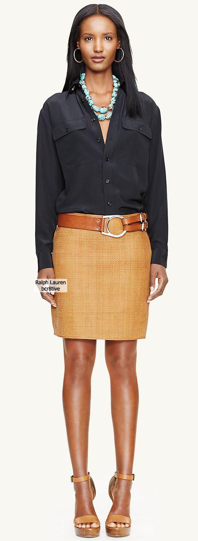 Black Label Woven-Leather Kasey Skirt