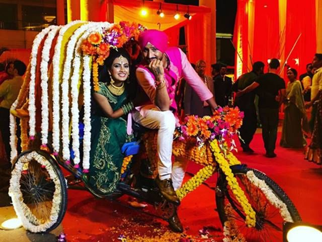Hyderabad: Geeta Basra & Harbhajan Singh are all set to tie the knot on October 29 in Jalandhar. The soon-to-be married love birds are seen here at their sangeet and mehendi ceremony. It was a grand affair attended by family, close friends, colleagues and well-wishers.