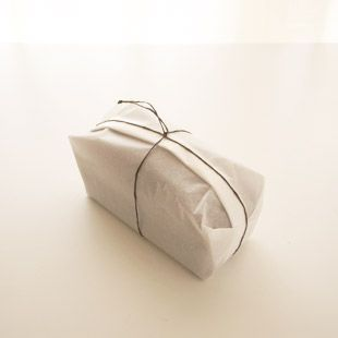 ~ simple white butcher paper wrap ~ add a tag, a sprig of lavender, thyme, or rosemary for color ~