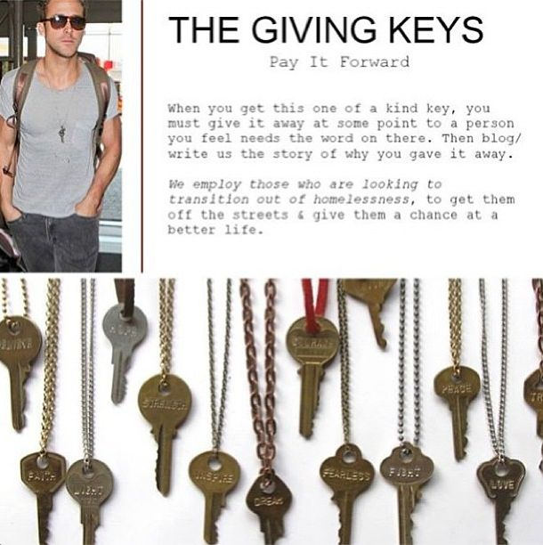 Giving Keys... Just saw these at a store in San Diego! Very cool concept