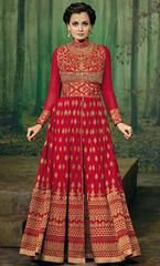 Dia Mirza Red Long Anarkali Suit  https://www.ethanica.com/products/dia-mirza-red-long-anarkali-suit