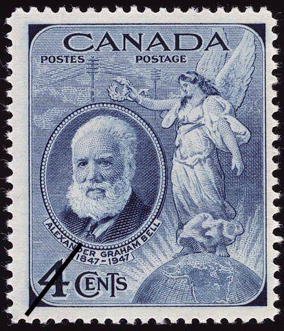 Stamp: Alexander Graham Bell (Canada) (Birth Centenary of Alexander Graham Bell) Mi:CA 244,Sn:CA 274,Yt:CA 225,Sg:CA 408