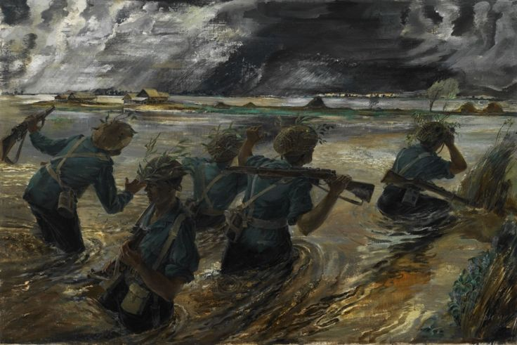<em>Burma - 14th Army: The Battle of the Sittang Bend</em>, 1945, by Leslie Cole.
