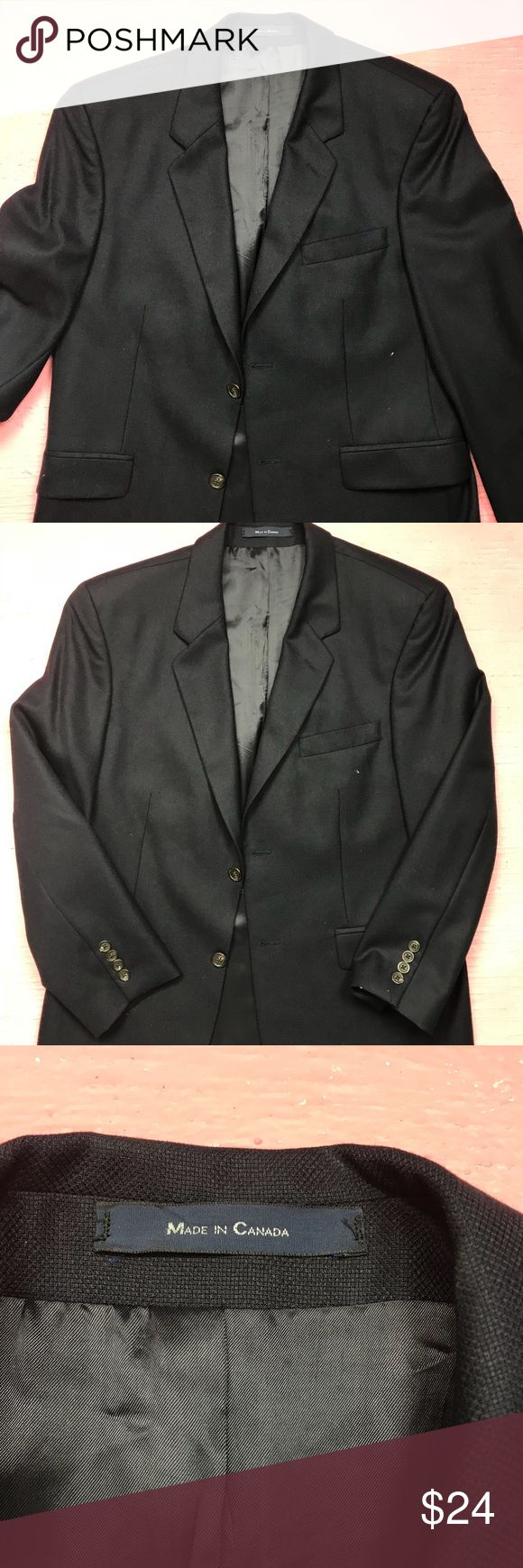 "RALPH LAUREN for Dillards blue blazer coat 38S Ralph Lauren for Dillards blazer. Dark blue but the lighting makes it look brighter than it is. Size 38 S. 100% Wool. Made in Canada. Sleeve is 22.5"". Length is 30"". Ralph Lauren Suits & Blazers Sport Coats & Blazers"