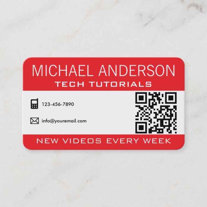 Youtube Channel Professional Youtuber Business Card Zazzle Com