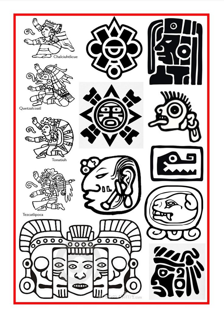 Aztec symbol for strength
