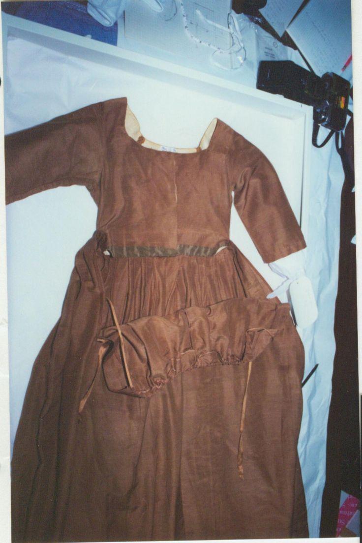Regency fashion plate the secret dreamworld of a jane austen fan - Brown Silk Wool Faille Gown Apron Front Skirt In The Missouri Historical Society
