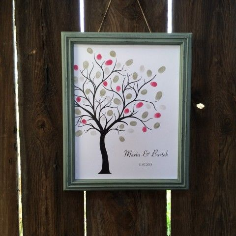 boho wedding guest book