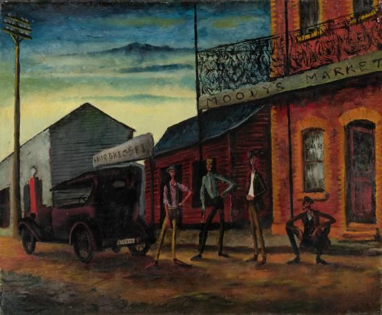 Moody's pub (1941) by Russell Drysdale. National Gallery of Victoria, Melbourne.
