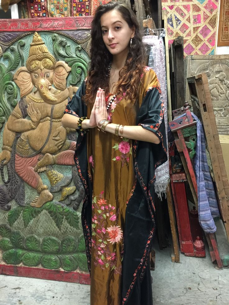 Hand embroidered Kashmir Caftans in assorted styles and colors Red , Pink, Orange, Violet, Purple,Yellow ,Green , Turquoise, Blue,Teal , Black , White, Grey ,White, Maroon, Brown , Mustard ,Navy ,Please click on BRAND A name MOGUL INTERIOR above TITLE OR Search for Mogul Interior in Search Bar of Amazon