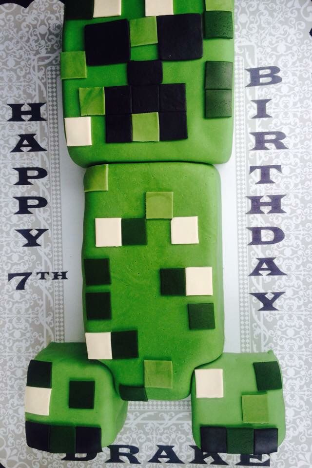 Creeper from minecraft 25 pinterest creeper from minecraft cake voltagebd Image collections