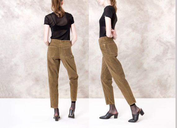 HIGH WAIST CORDUROY cords Pants Slacks by BetterStayTogether