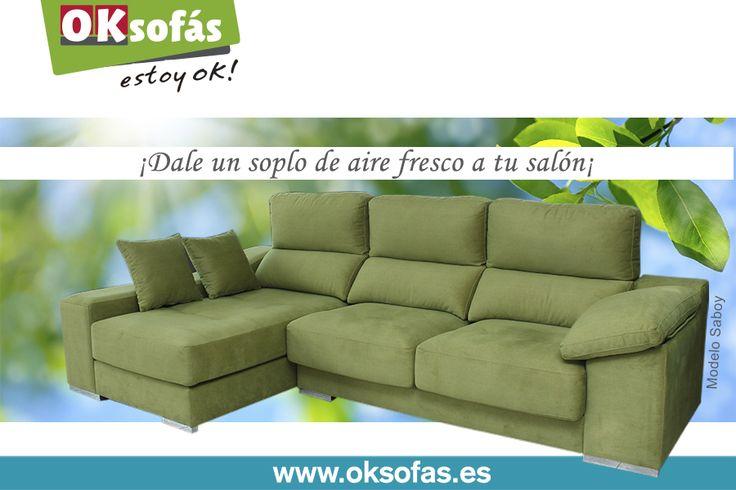 Modelo #Savoy, ¡un #sofá ideal para darle #frescura a tu #salón! #sofa #salon #frescura #relax #oksofas #relax #descanso