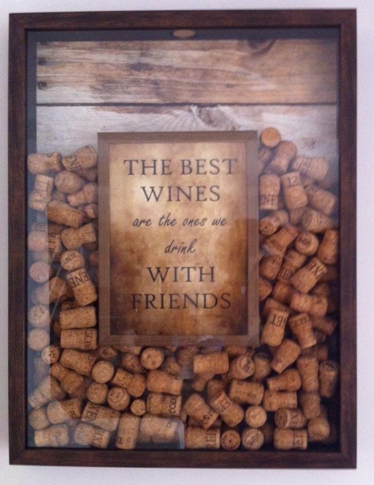 """Quadro Para Rolhas - Fastframecuritiba - R$ 395,00 no MercadoLivre """"Os melhores vinhos são os que bebem com amigos"""""""