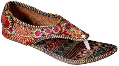 Ridhi Sidhi Gorgeous Hand Embroidered Red Colored Flats Visit @ http://fkrt.it/hrXNa5NN
