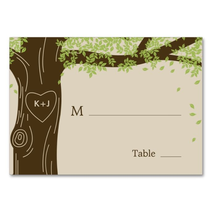 1447 best images about elegant tree business cards on for Make your own wedding place cards