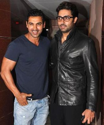 Abhishek Bachchan makes buddy John Abraham see Bol Bachchan!