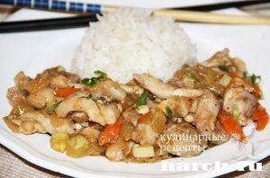 Курица с кабачками по-китайски
