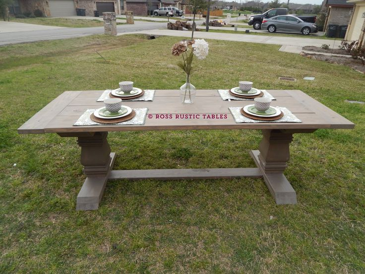 This Is Our Rustic Trestle Dining Table. It Has Become One Of Our Best  Sellers. This Piece Is A Knockoff Of A Table Made By A Large Furniture  Company.