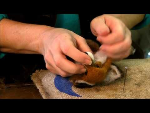 ▶ How to Needle Felt Animals - Fox Series 9: Eyes and Whiskers by Sarafina Fiber Art - YouTube