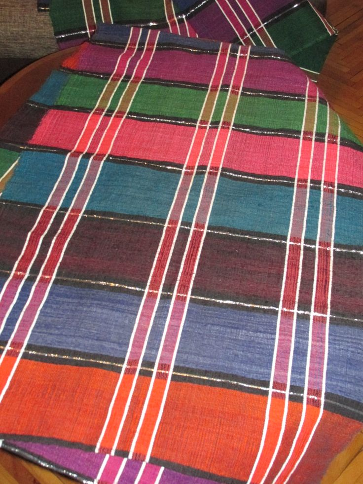 Beautiful antique and extremely rare, 100 % hand woven textile dated around 1940 - 1970. 2 rectangular pieces of fabric hand woven with wool on hemp of an amazing quality. At www.greatplouses.com