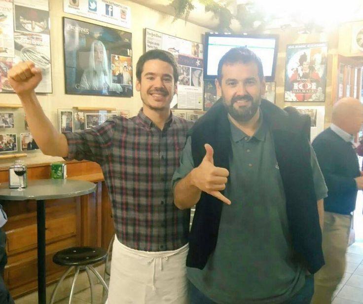 Con David de Jorge Eceizabarrena #txepetxa #cocinero #gastronomia #robinfood