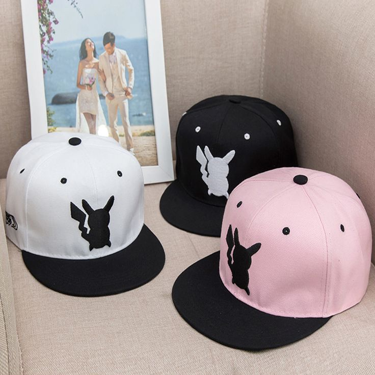New Arrival Cosplay Anime Pokemon Hat Pocket Monster Pikachu hat snapback Outdoor Cap Costume Play men&women Baseball Hat