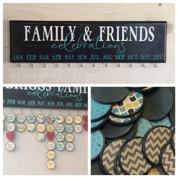 Family Birthday Board . Family Celebrations . Special Dates .