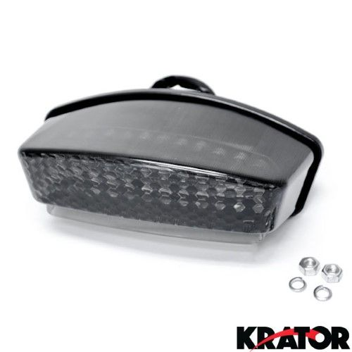 Krator® Smoke LED Tail Light Integrated with Turn Signals For 2006-2008 Ducati Monster 400 / 600 / 620 / 695