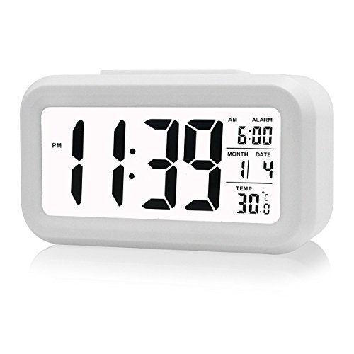 BOYON Alarm Clock, Smart Desk,Wake Up,Travel Clock,Light Sensor,Digital,Battery Operated,Display Tim... #deals