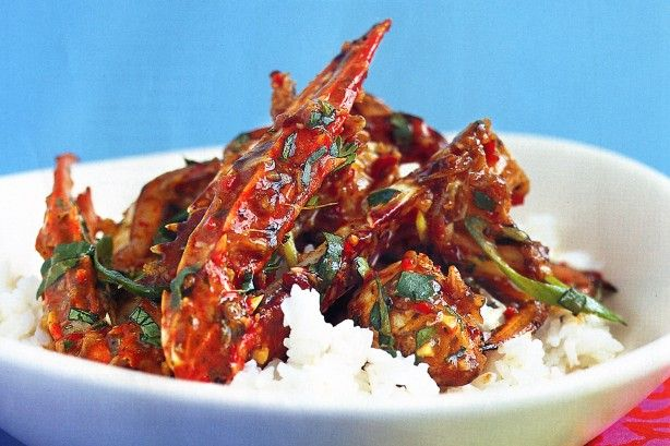 Enjoy this spicy chilli crab which uses simple, fresh and indulgent ingredients that will leave you with sticky fingers and a smile.