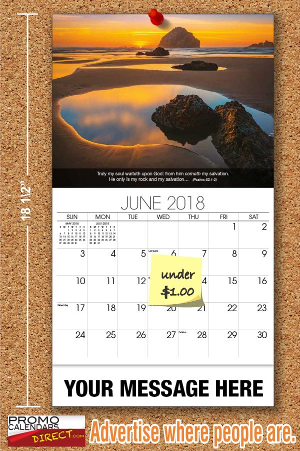 Fundraising with Christian Religious Inspirational Promotional Wall Calendars  How can a Promotional Calendar be used as a fundraiser? Quite easily it turns out; at a unit cost as low as 65¢, and a perceived value of $5 or more the potential return on investment is substantial.  Imprint your Faith Passages Calendars with a Thank You for Supporting our Church, School, Business or Event.  Then canvas a neighborhood, school, congrega... see more at www.promocalendarsdirect.com
