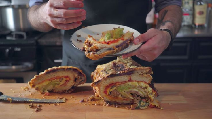 #goodfood Watch 'Binging With Babish' Recreate SNL's Famous Taco Crepe Pizza Pancake #foodie
