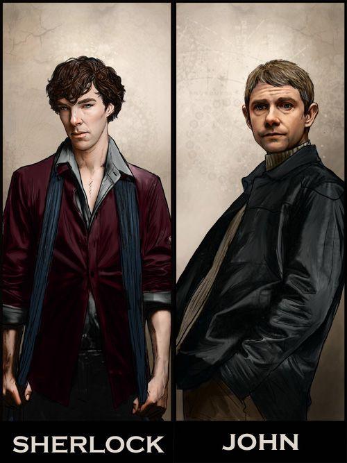 Lovely Sherlock bookmarks