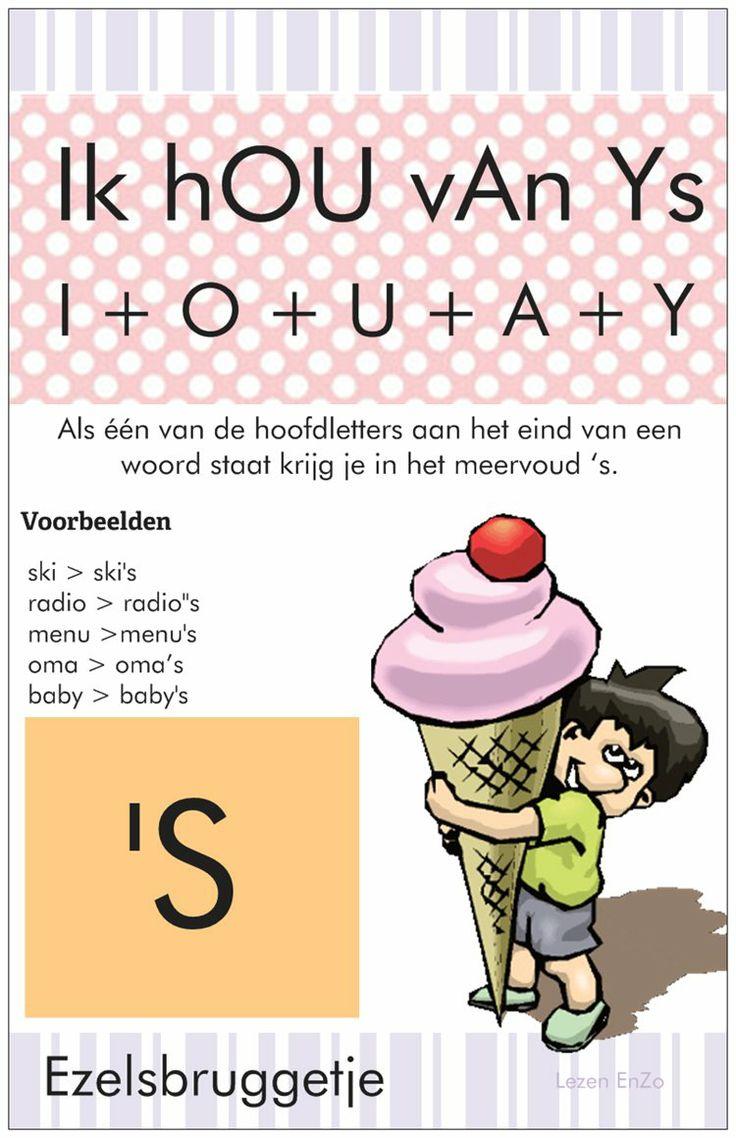 Spelling > hulpkaart 'S Ik hou van ijs > I + O + U + A + Y