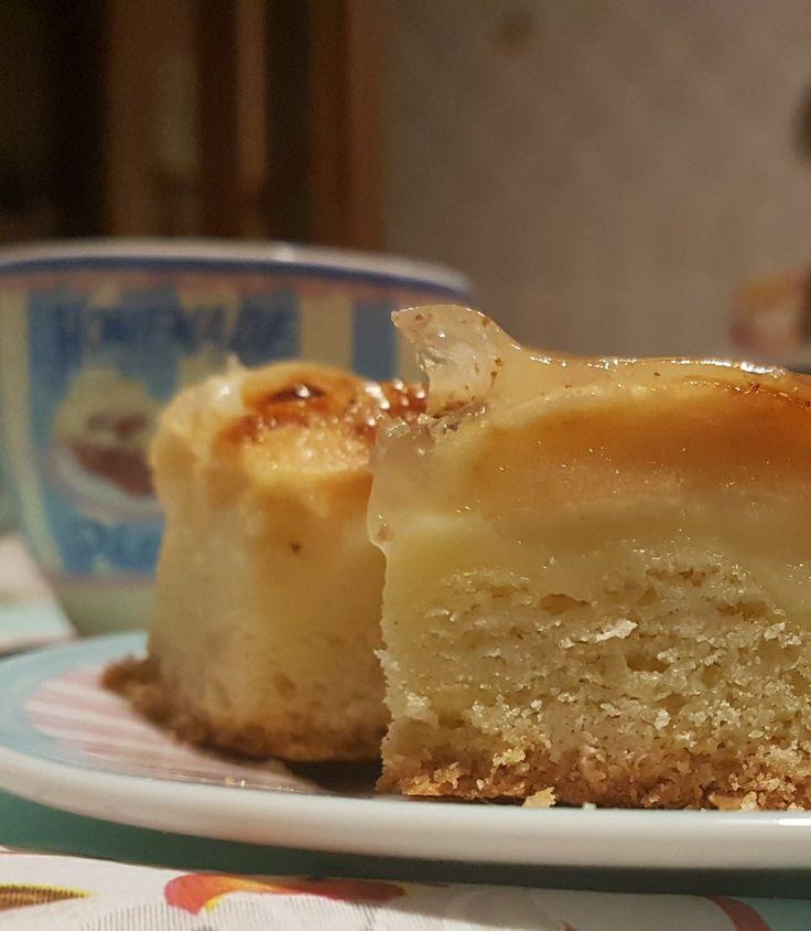 La mia torta mele, crema e cannella.