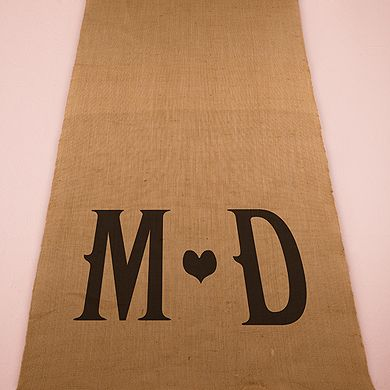 How about an Aisle Runner with personalized, rustic, burlap charm? #weddingaccessories