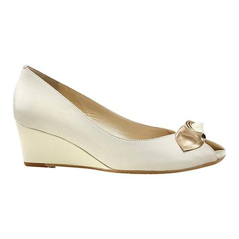 Buy Van Dal Manilla Leather Wedge Heel Court Shoes Online at johnlewis.com
