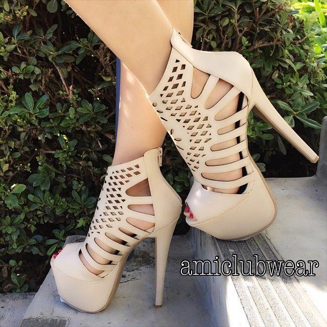 nude beige heels came close behind