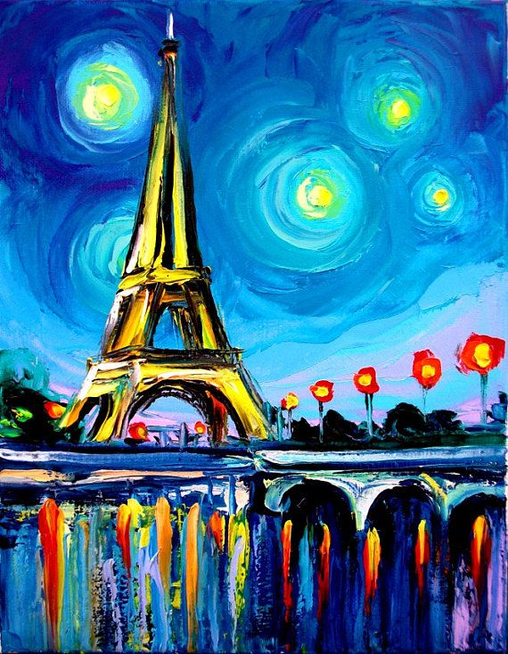 Eiffel Tower Art Eiffel Vii 11x14 Paris France Print Eiffel